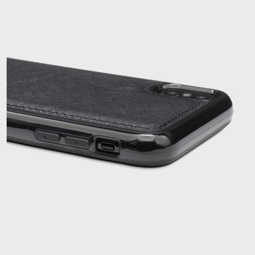 Gold Black iPhone X Leather Case Saffiano Black Price in Qatar