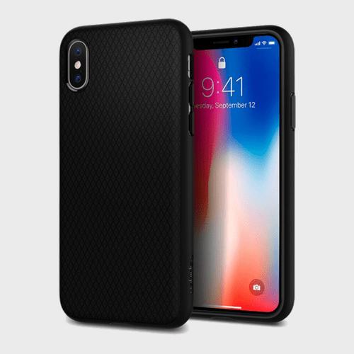 Spigen iPhone X Case Liquid Air Matte Black price in Qatar