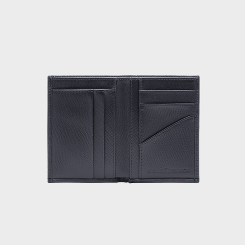 Goldblack Bifold Slim Wallet Saffiano Black price in Qatar souq