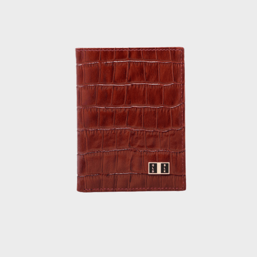Goldblack Bifold Slim Wallet Croco Brown price in Qatar