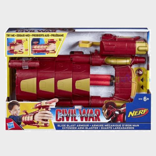 Nerf Captain America Iron Man Slide Blast Armor B5785 Price in Qatar