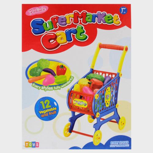 Fabiola Kids Supermarket Cart Toy NF595-5 Assorted Price in Qatar
