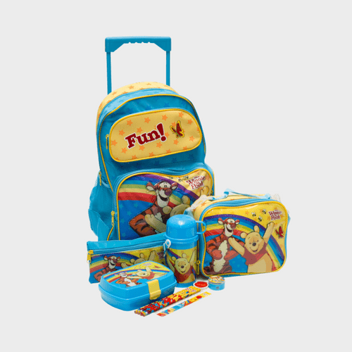 Winnie The Pooh School Trolley Bag Bundle Pack 12Pc FK150238 Price in Qatar