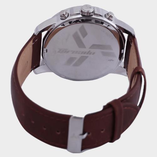Tornado Men's Chronograph Ivory Dial Leather Band T6103-SLDI price in Qatar lulu