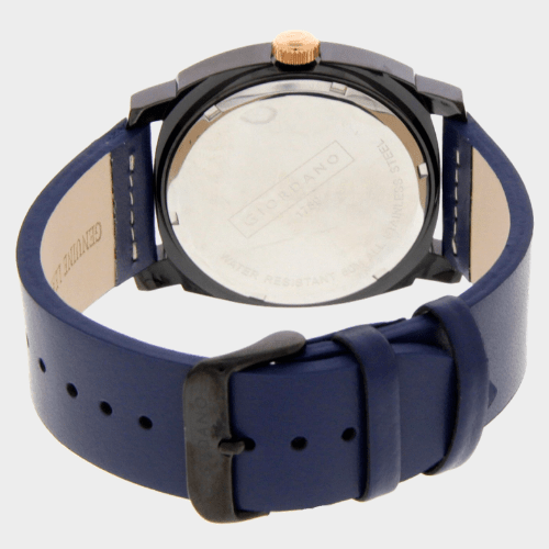 Giordano Men's Analog Watch Blue Strap With Black Dial - 1789-08 price in Qatar lulu