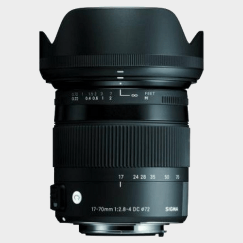 Sigma 17 - 70 mm f/2.8 - 4 DC Macro OS HSM Contemporary Lens for Canon Cameras price in Qatar souq