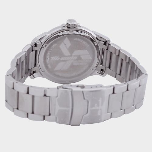 Tornado Men's Multi-Function Watch Black Dial Stainless Steel Band T6107-SBSB price in Qatar souq
