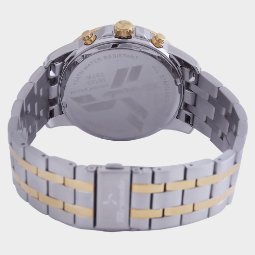 Tornado Men's Chronograph Watch White Dial Two Tone Band T6103-TBTW price in Qatar souq
