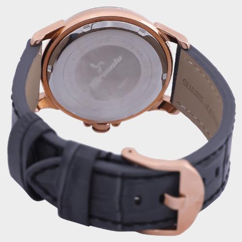 Tornado Men's Analog Grey Dial Leather Band Watch T5027-RLXX price in Qatar souq