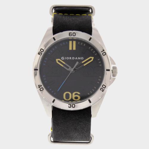 Giordano Men's Analog Watch Black Strap With Black Dial 1783-01 price in Qatar