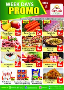 Grand Weekdays Promo till 20-03