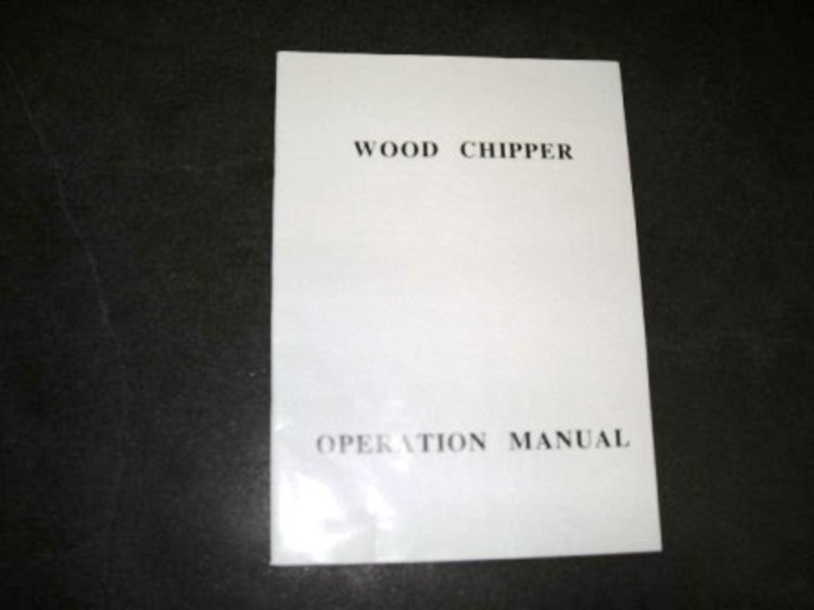 Wood Chuck Chippers Manuals