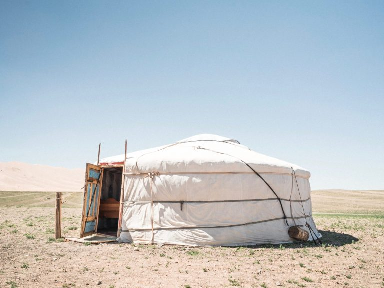 A mongolian ger where it is important to observe mongolian ger etiquette