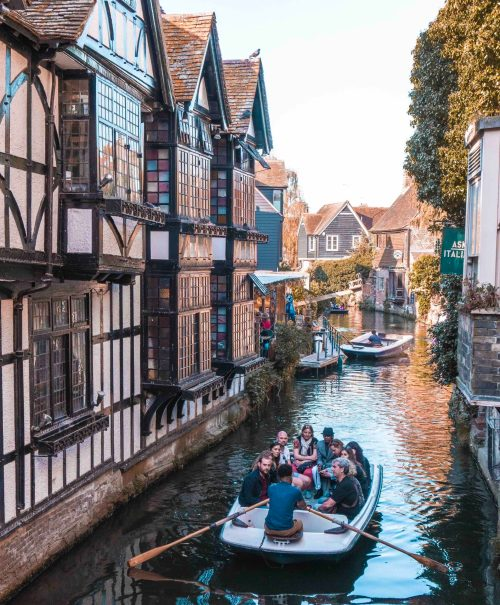 A punt along the River Stour in Canterbury