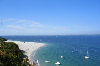 The Grands Sables beach, viewed from Pointe de la Croix