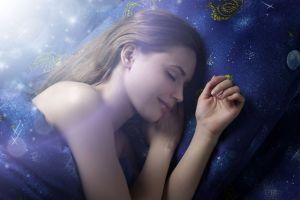 Sleeping Woman at night