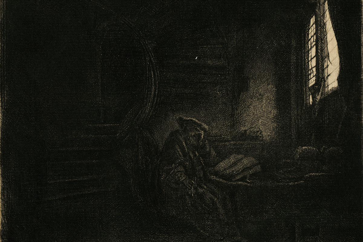Rembrandt-Etching-Self-Portrait-In-Darkened-Room