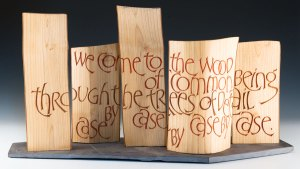 Martin Wenham Wood Letter Carving