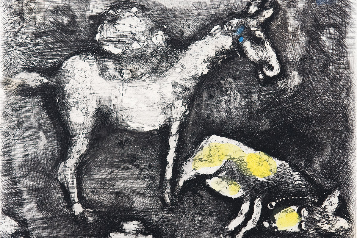 Chagall-Fables-two-mules