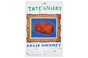 David Hockney Tate Gallery Dachshund Poster