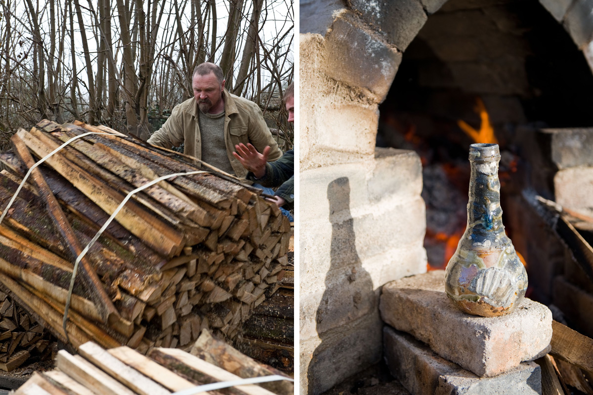 Nic-Collins-Wood-Fired-Bottle-and-Wood-Stack
