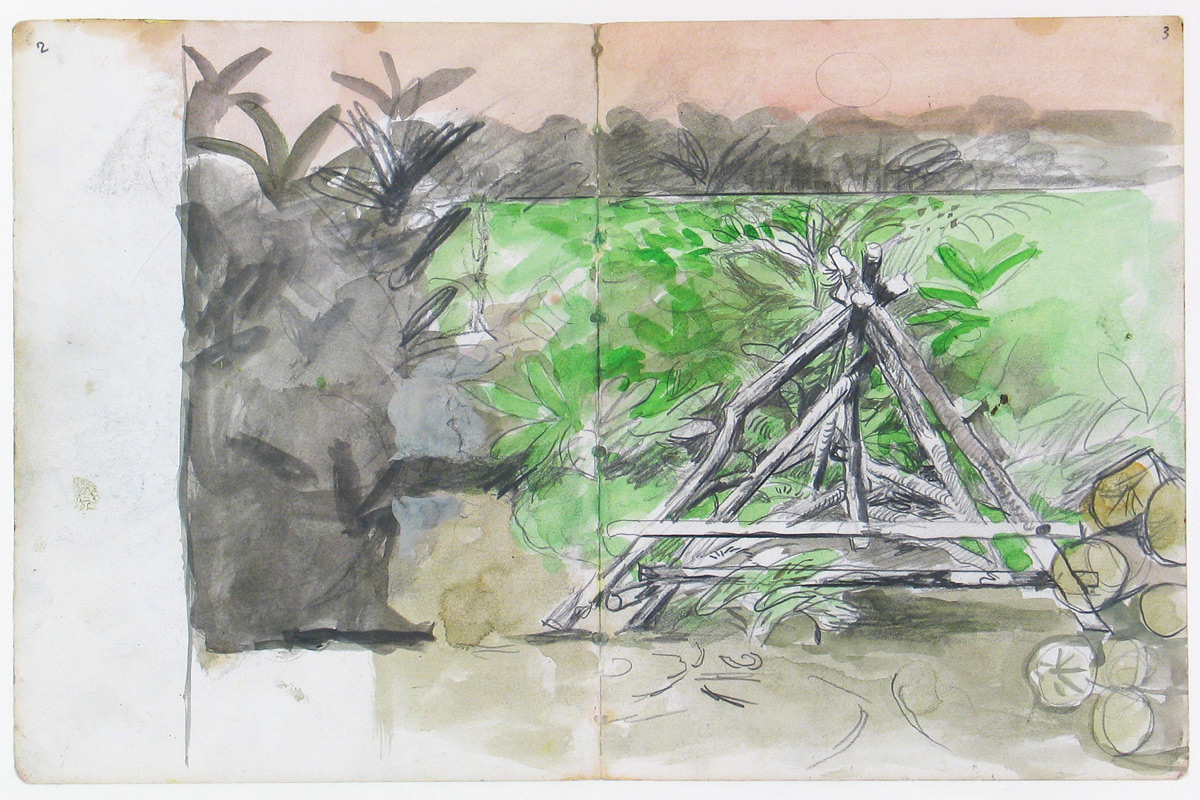 Graham-Sutherland-Pyramid-Of-Stakes-Pembrokeshire-Sketch