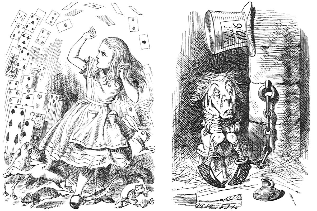 6-Print-Suites-Alice-Through-The-Looking-Glass-Cards-and-Mad-Hatter