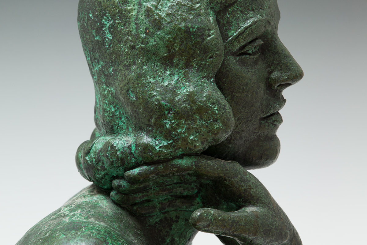 Frank-Dobson-By-Andrew-Lambirth-Lady-Dorothea-Ashley-Cooper-Bronze-Detail