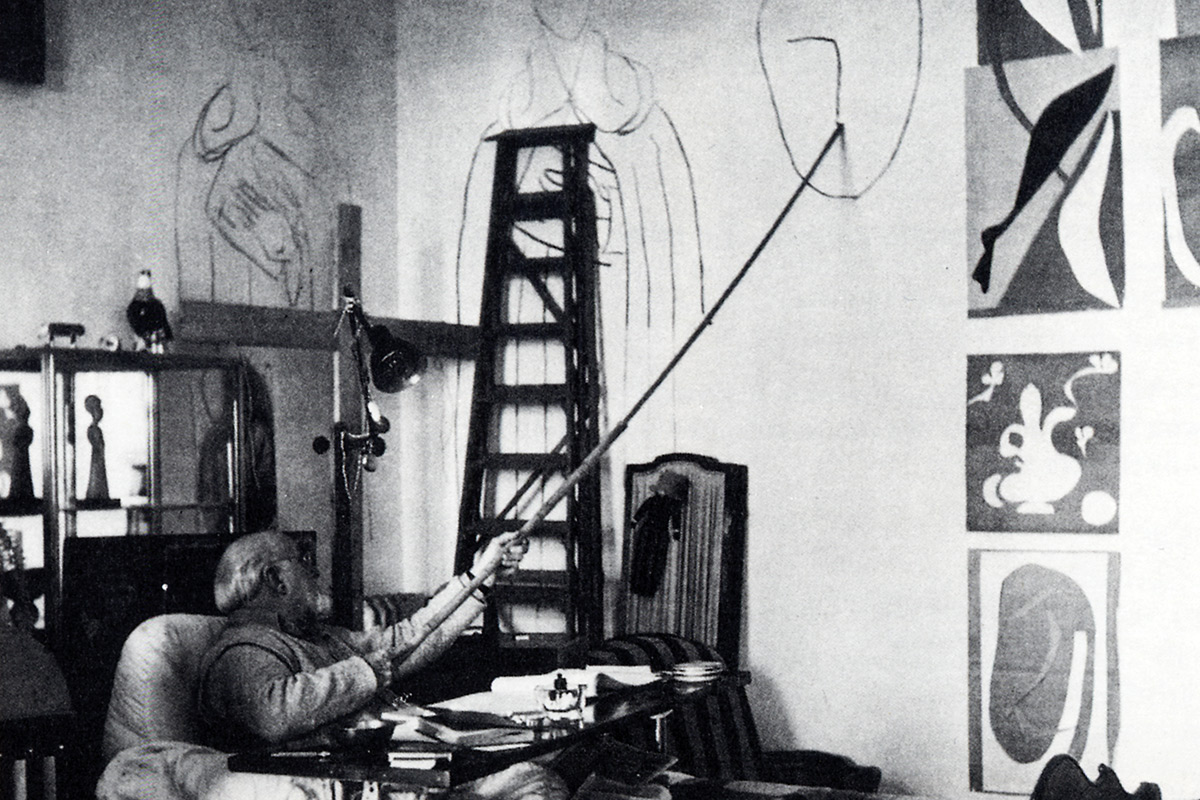 Henri-Matisse-Drawing-From-Bed-Long-Stick