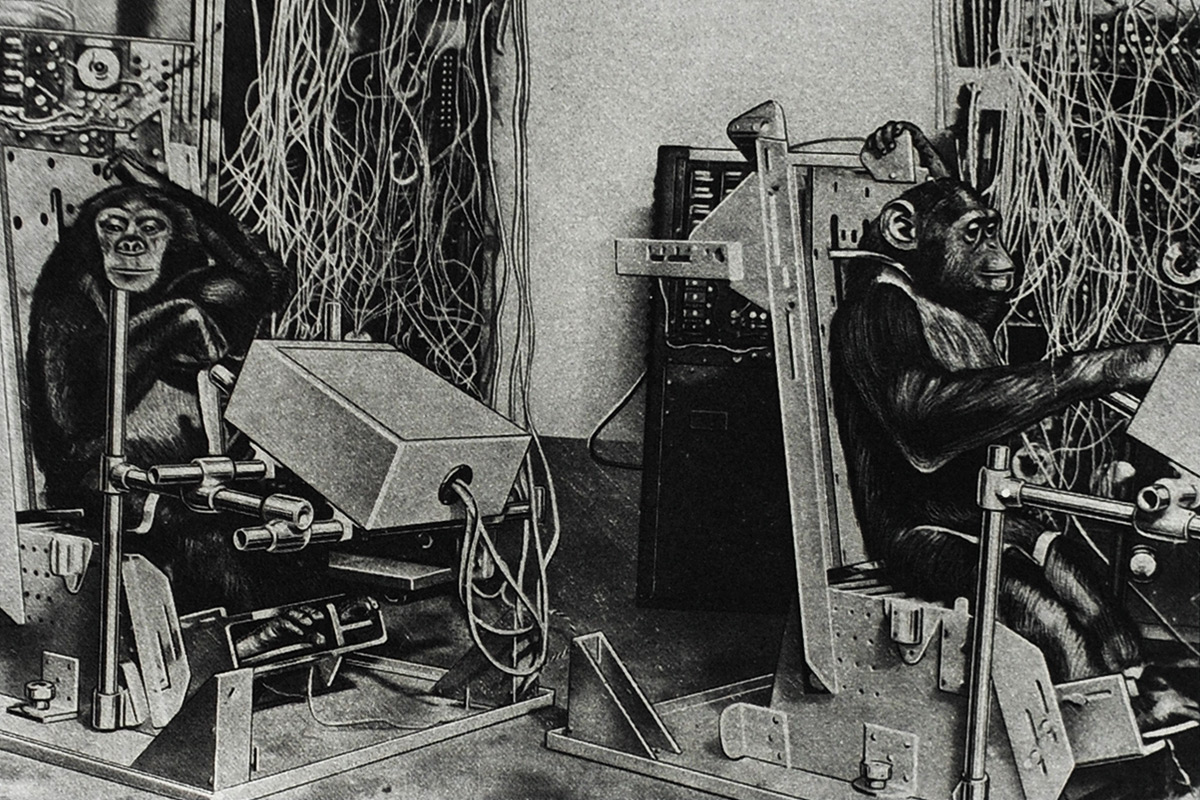 Eduardo-Paolozzi-Cloud-Atomic-Laboratory-Chimpanzee-in-Test-Box-Designed-For-Space-Flight