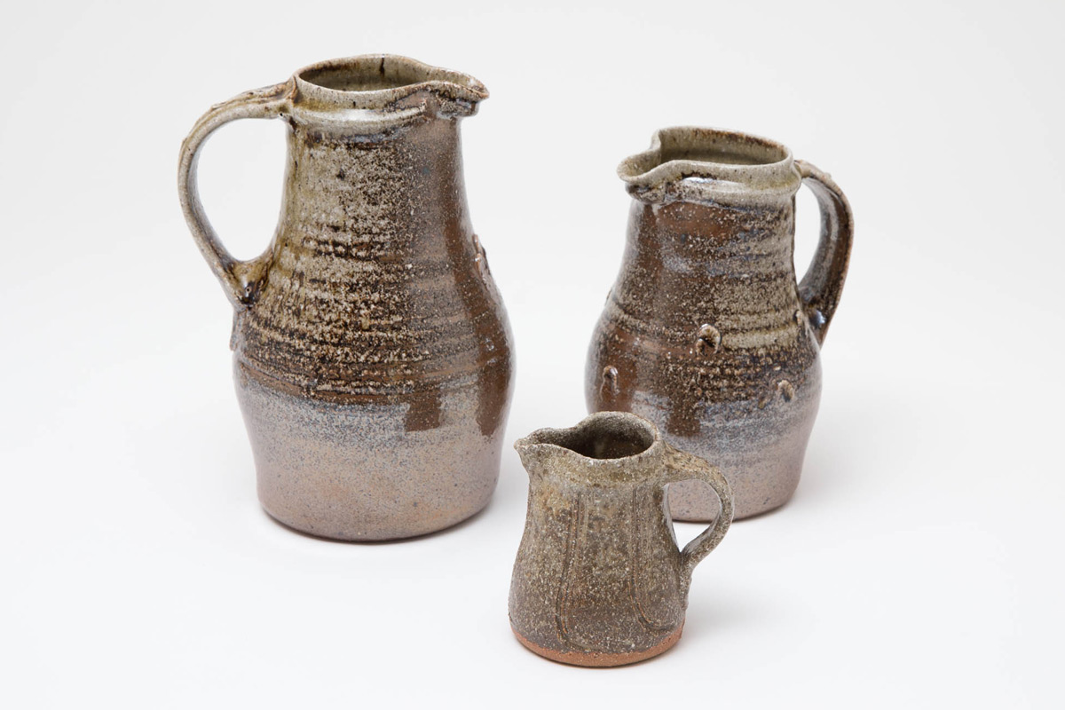 Jim-Malone-Ceramics-Exhibition-Celebration-Salt-Glaze-Jugs