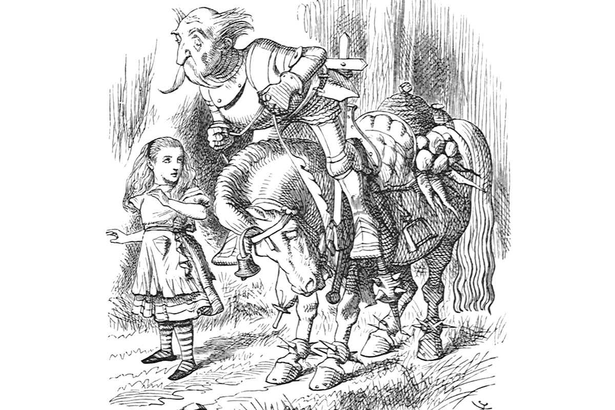 john-tenniel-alice-in-wonderland-wood-engravings-horse-knight
