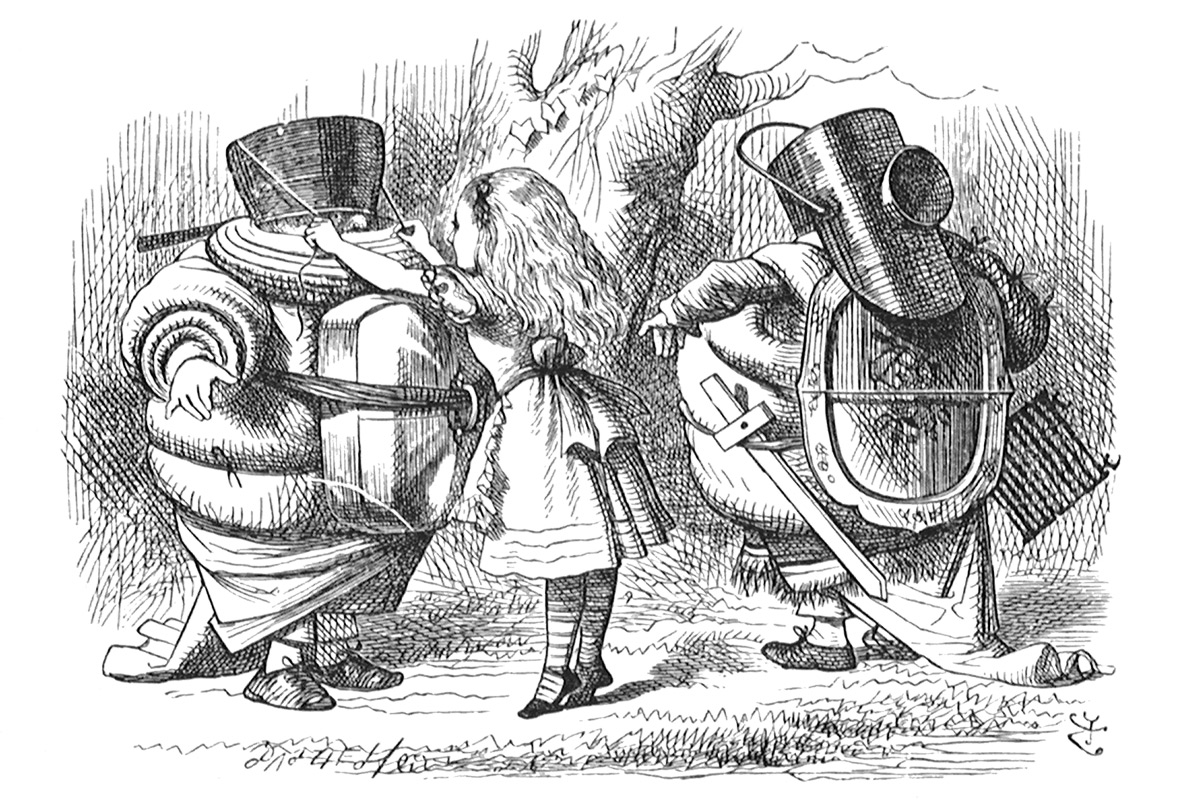 john-tenniel-alice-in-wonderland-wood-engravings-tweedle-dee-dum-knights