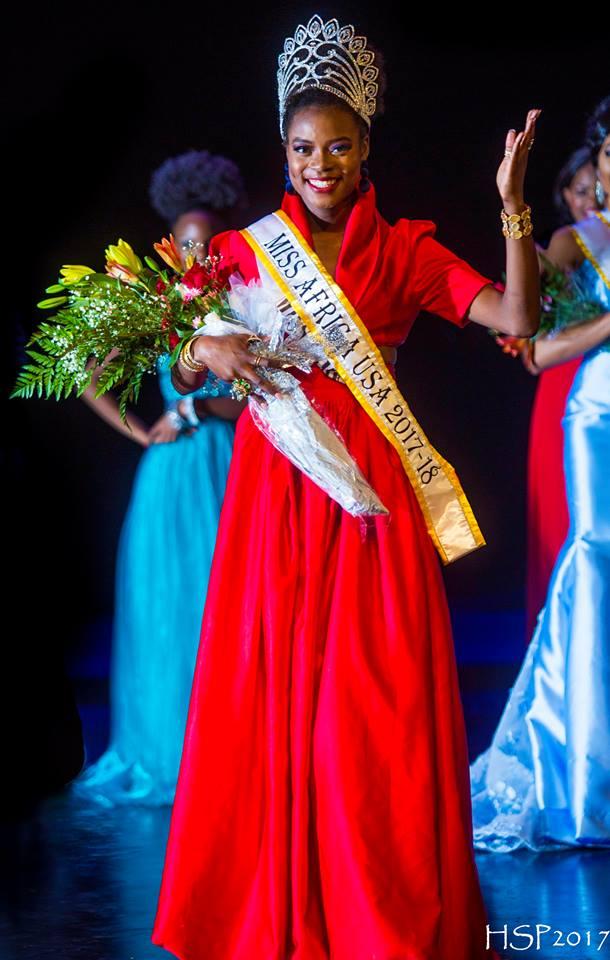 Corinne is Miss Africa USA 2017-2018. Credit/missafricausa.org/
