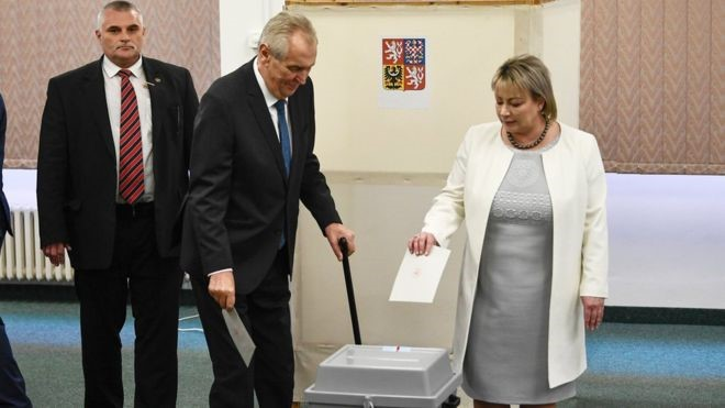 Czech : Zeman, another anti-Immigration Persona wins second term