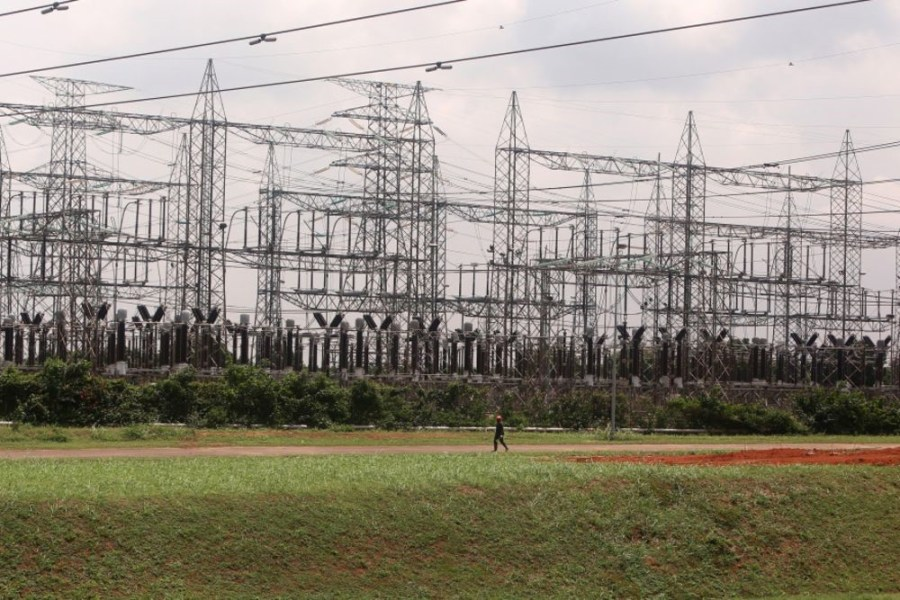 Electricity pylons at the Egbin Power Plant in Lagos, Nigeria. Photographer: George Osodi/Bloomberg