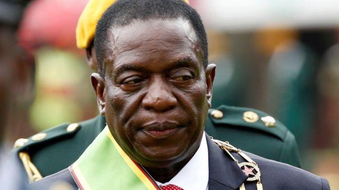 Zimbabwe President, Emmerson Mnangagwa