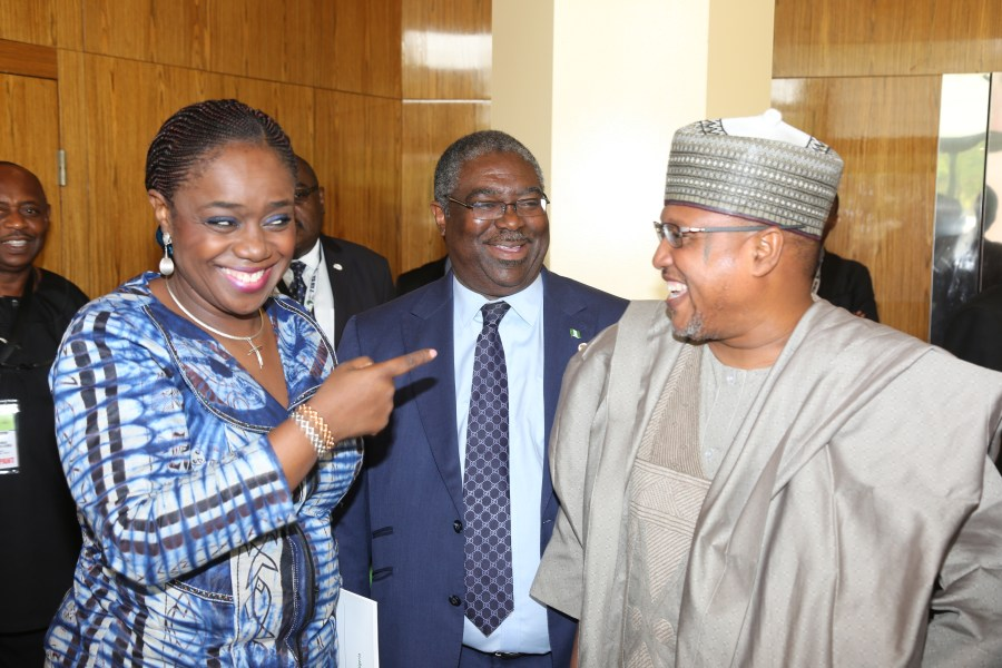 Nigeria's Minister of Finance, Kemi Adeosun, Executive Chairman, FIRS, Tunde Fowler and The Chairman, Nigeria's House Committee on Finance, Alhaji Babangida Ibrahim at the 3rd ATAF Conference, 2017 in Abuja, Nigeria. Source/FIRS Gauge Magazine