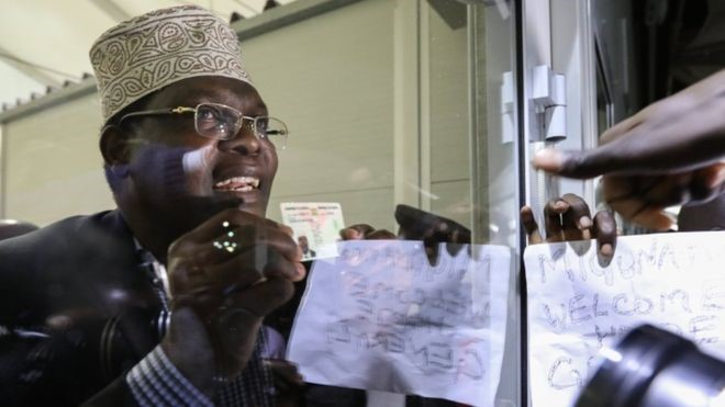 Miguna was detained upon his arrival at the airport in Kenya