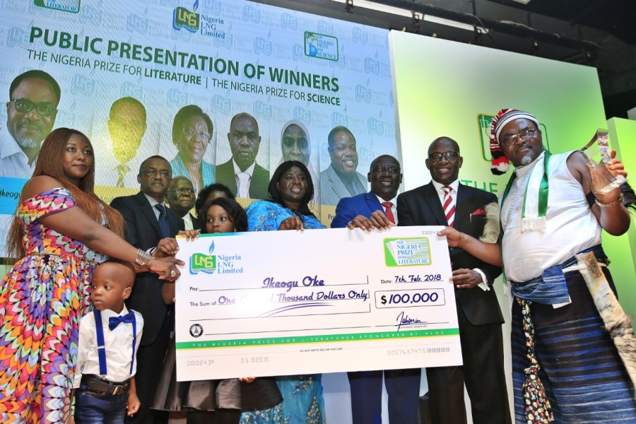 Ikeogu Oke received the NLNG Prize for literature