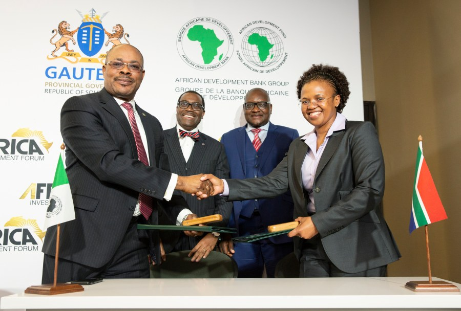 The Bank and the Government of Gauteng Province on Tuesday signed a memorandum of agreement to host the inaugural edition of the Africa Investment Forum from November 7 to 9, 2018 in Johannesburg, South Africa