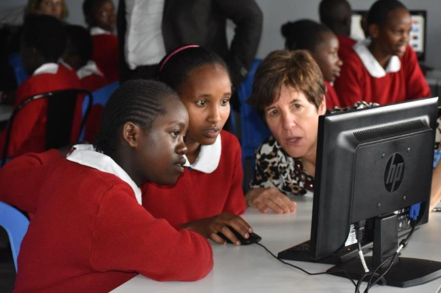 Today's event dubbed She Can Code Challenge is part of GE's Girls initiative designed to encourage girls to explore the world of science, technology, engineering and math and STEM-based careers