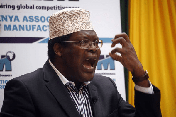 Miguna Miguna participates in a gubernatorial debate at Crowne Plaza Hotel, Nairobi, on June 29, 2017. He earned a Juris Doctor from the Osgoode Hall Law School of York University in 1993. PHOTO | EVANS HABIL | NATION MEDIA GROUP
