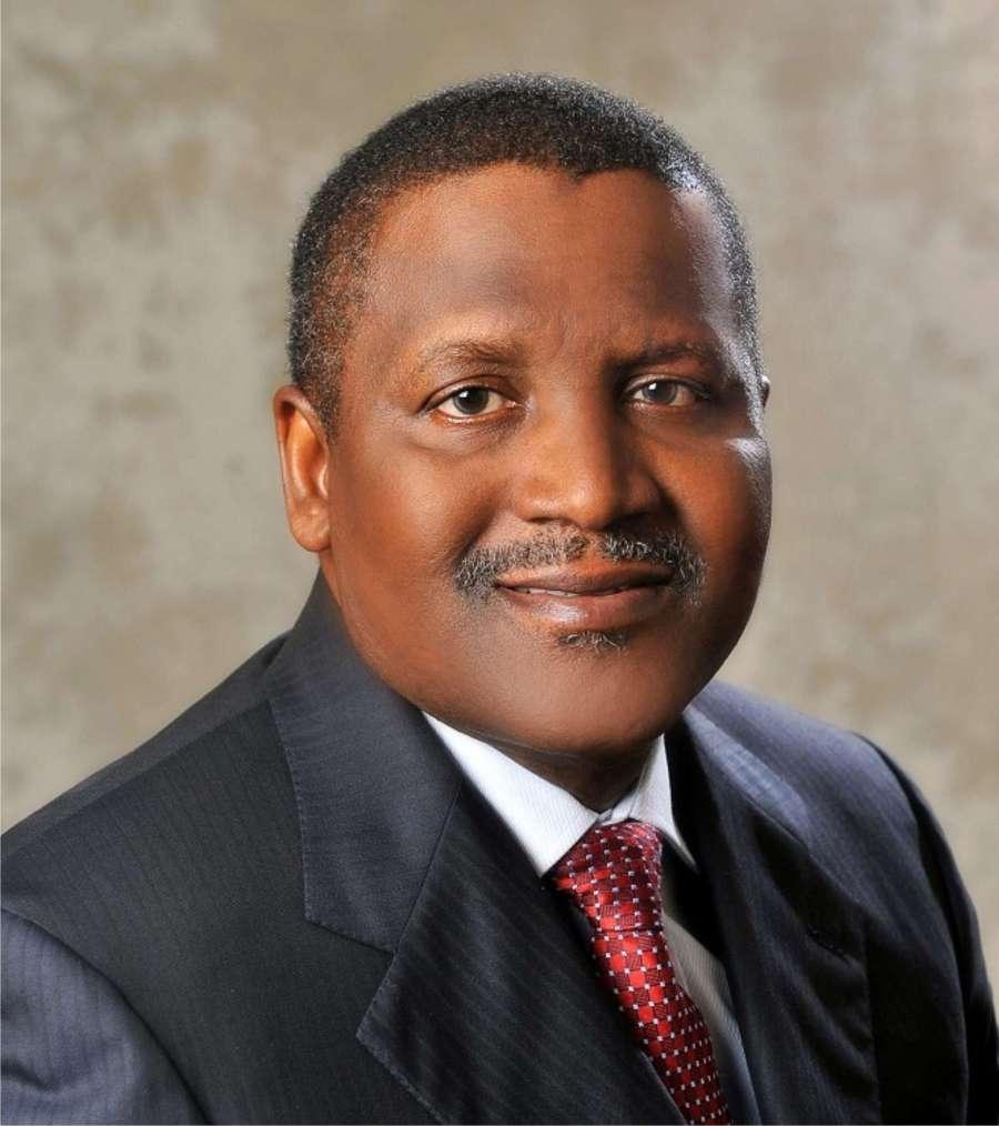 President of Dangote Group Alhaji Aliko Dangote
