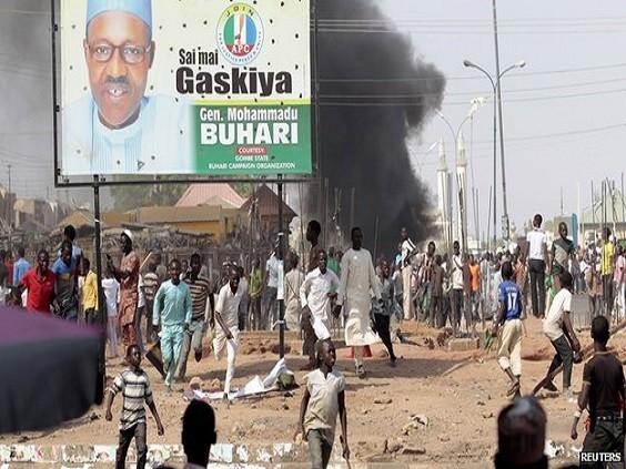 Scene of Electoral Violence in Northern Nigeria