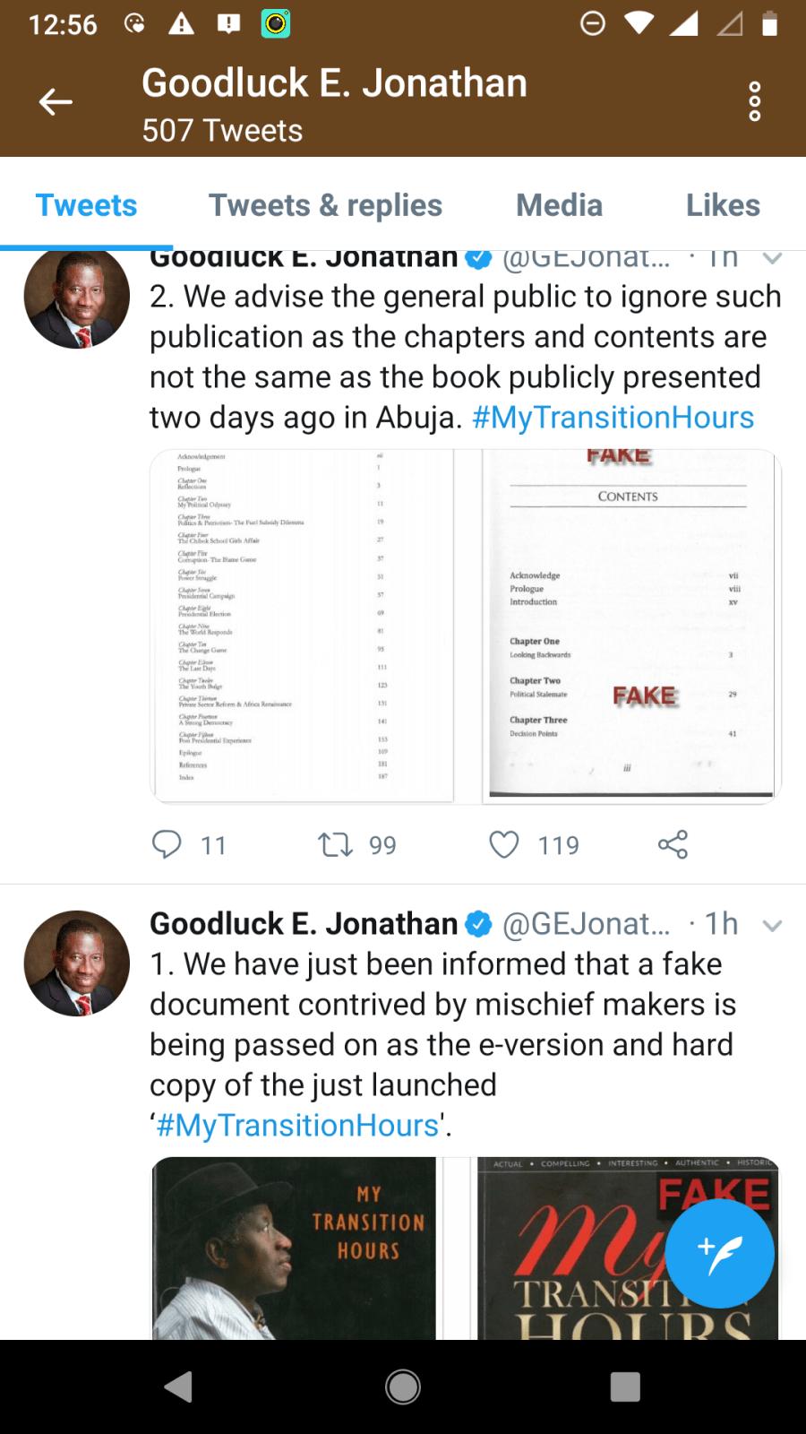 Jonathan says mischief-makers circulating fake version of his new book