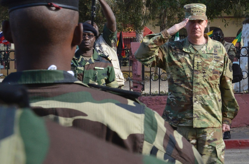 US Africom troops