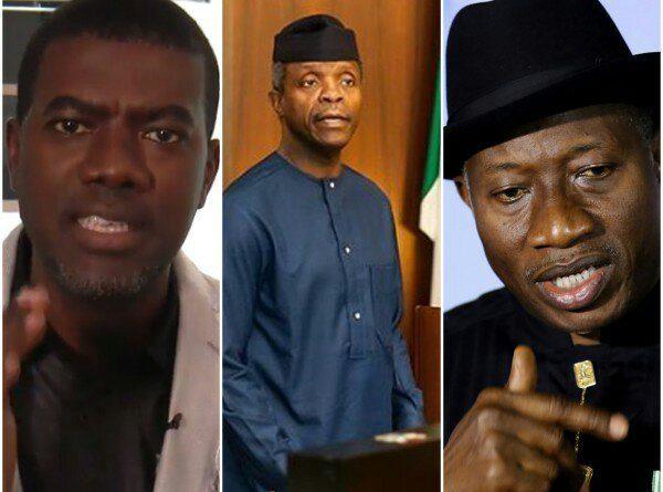 L-R: Reno Omokri, Yemi Osinbajo and Goodluck Jonathan