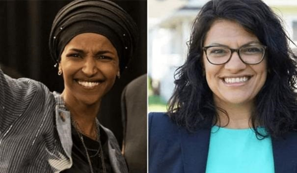 Rashida Tlaib(R) and Ilhan Omar(L) became the first Middle Eastern women to be elected to Congress during the US mid-terms. . Photo : RR
