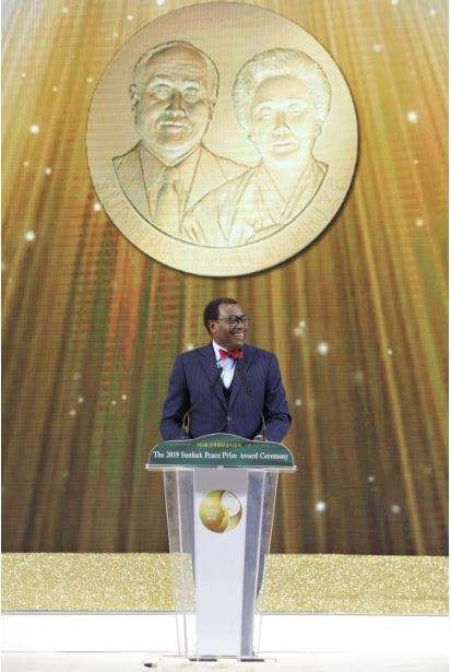 Adesina donates his $500,000 Sunhak Peace Prize to fight hunger in Africa